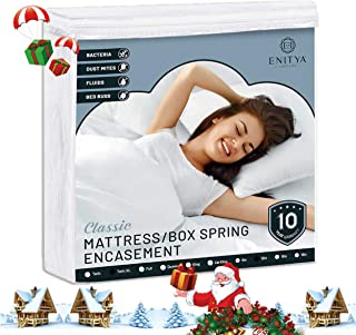 ENITYA Waterproof Zippered Mattress Encasement & Protector &Cover with Soft, Breathable Knitted Quiet Fabric, Twin XL Size:W39xL80xH12 Inch