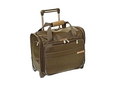 Briggs & Riley Baseline Rolling Cabin Bag (Olive) Duffel Bags