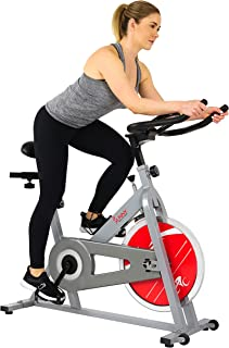 Sunny Health & Fitness Unisex Adult SF-B1001S Indoor Cycling Bike - Silver, One Size