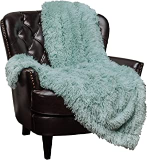 Best Chanasya Shaggy Longfur Faux Fur Throw Blanket - Fuzzy Lightweight Plush Sherpa Fleece Microfiber Blanket - for Couch Bed Chair Photo Props (60x70 Inches) Aqua Turquoise Review
