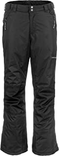 Lucky Bums Youth Snow Ski Pants with Reinforced Knees and Seat, Black, X-Large