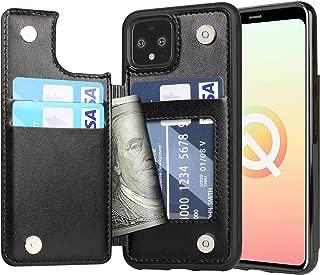 Arae Case for Google Pixel 4 - Wallet Case with PU Leather Card Pockets Back Flip Cover for Google Pixel 4 - Black