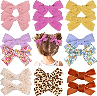 16PCS Baby Girl Hair Bows Alligator Clips Hair Barrettes Accessories for Fine Hair Babies Infant Toddlers Kids Little Girl...