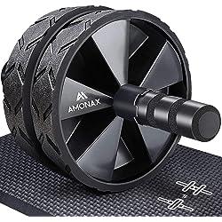 Amonax - Rodillo de rueda para abdominales