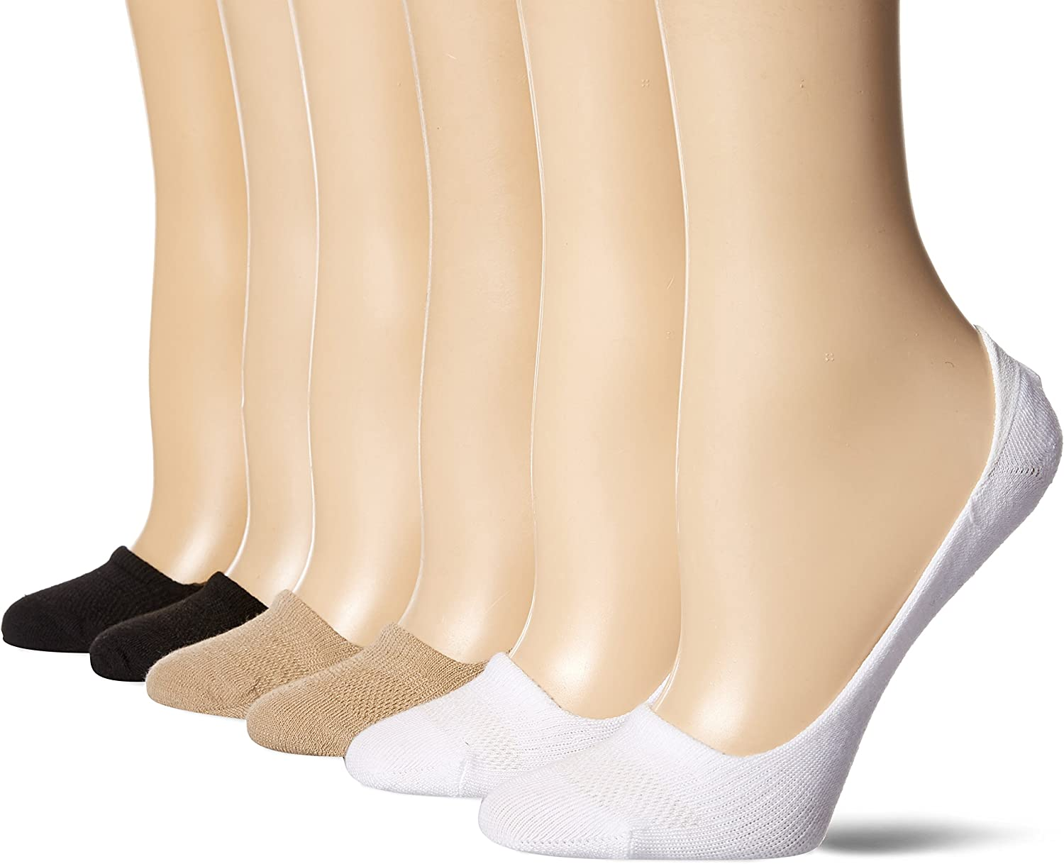 Hanes womens 6-pack Invisible Comfort Ballerina Liner