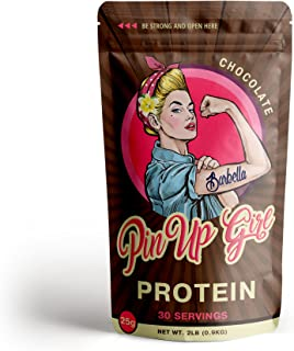 Pin Up Girl Protein Whey Isolate Powder – 25 Grams of Protein Per Serving – Chocolate – Low Calorie, Fat Free, Sugar Free, Zero Carb – for Women (30 Servings)