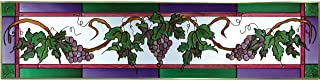 Silver Creek Grapes Painted Glass Panel T-324