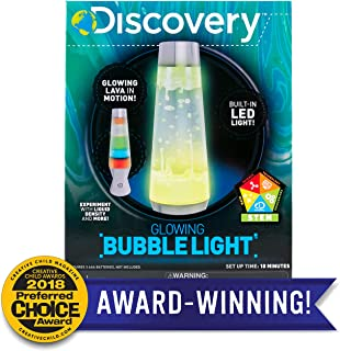 Discovery Glowing Bubble Light by Horizon Group USA, Built in Led Light Lamp, Includes 7 Great Stem Science Experiments with Liquid Density & More