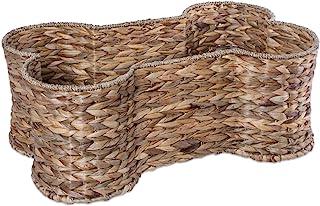 Bone Dry DII Large Hyacinth Bone Shape Storage Basket, 24x15x9, Pet Organizer Bin for Home Décor, Pet Toy, Blankets, Leash...