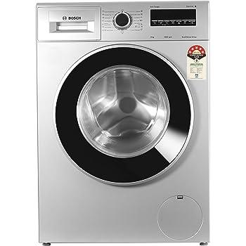 Bosch 8 Kg Inverter Fully-Automatic Front Loading Washing Machine (WAJ28262IN, Silver)