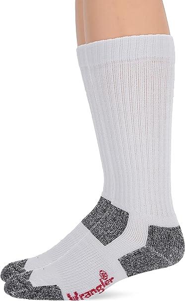 6 pair $21.99 White w//Grey Moisture Wicking XL Wrangler Ultra-Dri Work Socks