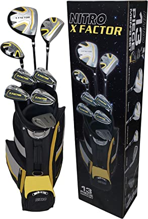 Nitro Golf- X Factor 13 Piece Complete Set with Bag Graphite/Steel