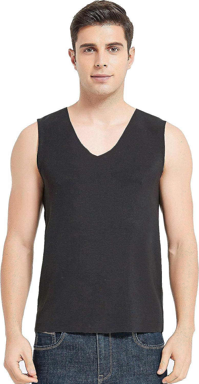 Alexander Silk Men's Mulberry Silk Cottron Vest