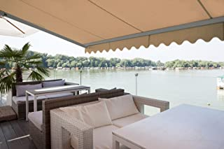 ADVANING 8'X7' Manual Patio Retractable Awning | Classic Series | Premium Quality, 100% Solution-Dyed Acrylic UV Sun Shade Awning, Color: Canvas Umber, MA0807-A208H