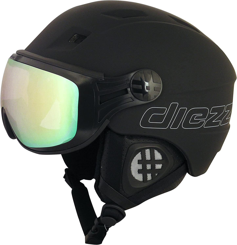 diezz Homme Noir Casque De Ski//Snow Glide Active Black