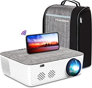"WiFi Projector Native 1080P Projector, FANGOR 701 Video Projector Bluetooth/Full Sealed Design/Digital Keystone/300"" Displ..."