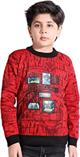 AD & AV Boys Fullsleeve Sweater 955_Kids_Sweater_RED_Batman_AA