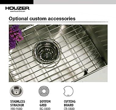 Houzer CF-1830-1 Club Series Undermount Round Bar/Prep Sink
