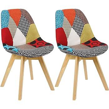 Kare Design Stuhl Econo Very British, Rot Gelb, Polsterstuhl