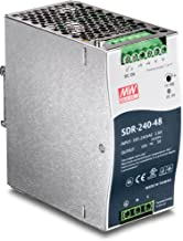 TRENDnet 240 W Single Output Industrial DIN-Rail Power Supply, TI-S24048, Extreme Operating Temp Range -25 to 70 °C(-13 to 158 °F) Built-in Active PFC, UL 508 Approved, Passive Cooling, DIN-Rail Mount