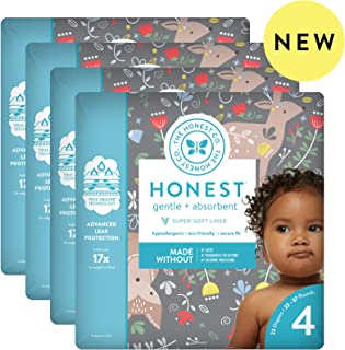 The Honest Company The honest company baby diapers with trueabsorb technology, my deer, size 4, 92 count, My Deer, Size 4, 92 Count