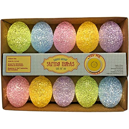 Easter Eggs Wire String Lights Battery Operated Light Party Home Decor Lamps TK