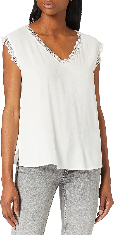 Only Onljasmina S/S Lace Top FR Wvn Camiseta sin Mangas para Mujer
