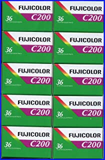 10 Rolls Fujifilm Fujicolor C200 200 ISO 36 exp 35mm Color Negative Film (Pack of 10)