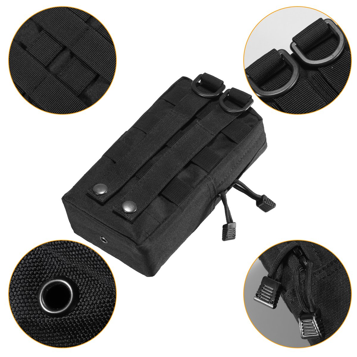 Zeato 2 Bolsas t/ácticas portaobjetos para colgar del cintur/ón compactas y resistentes al agua