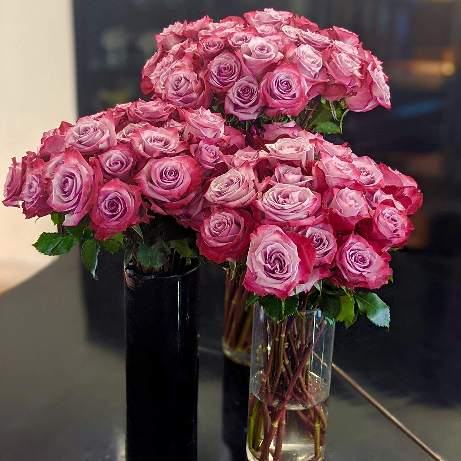 Magenta Lavender Bi-Colored Roses Flower Bouquet Red Ranking It is very popular TOP15 Beautiful -