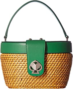 Rose Medium Top-Handle Basket