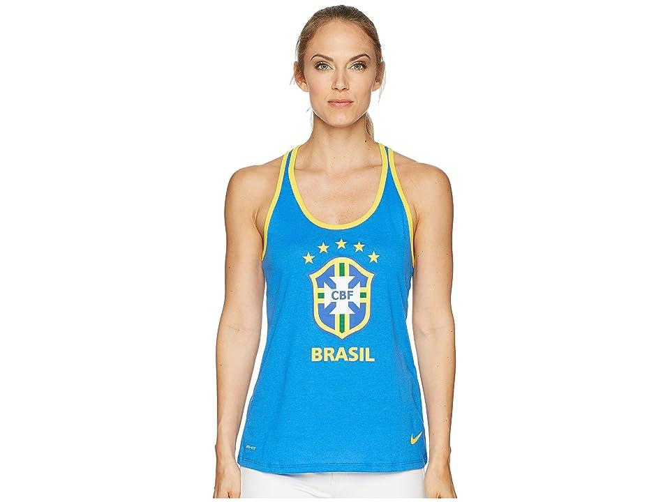 d688bb96fcbc79 Nike CBF Brasil Crest Dry Tank Top (Signal Blue Midwest Gold) Women