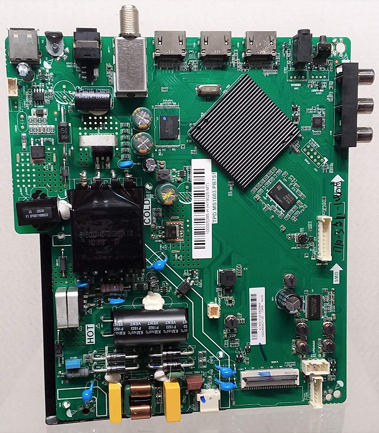 Replacement Genuine Free Shipping Main Board for Las Vegas Mall ONN TV Number TP Model 100005395 Part