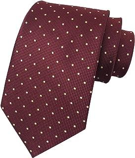 Ctskyte Men's Micro Checkered Plaid Polka Dot Striped Ties Woven Formal Silk Necktie