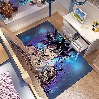 GOOCO 3D Tapis Antidérapant Dragon Ball Z Anime/Cartoon Tapis Polyester pour Salon, Chambre À Coucher, Super Saiyan Son Go...