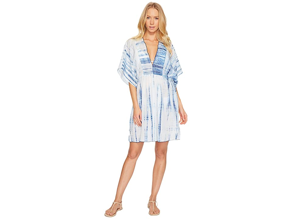Polo Ralph Lauren Voile Tie Back Tunic Cover-Up (Blue/White) Women