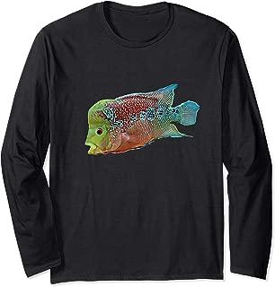 Flowerhorn cichlid freshwater aquarium fish Long Sleeve T-Shirt