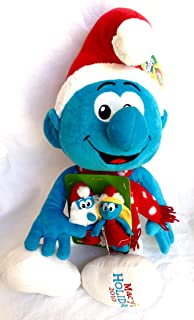 "Macy's The Smurfs 21"" Plush Christmas Smurf with Finger Puppets"