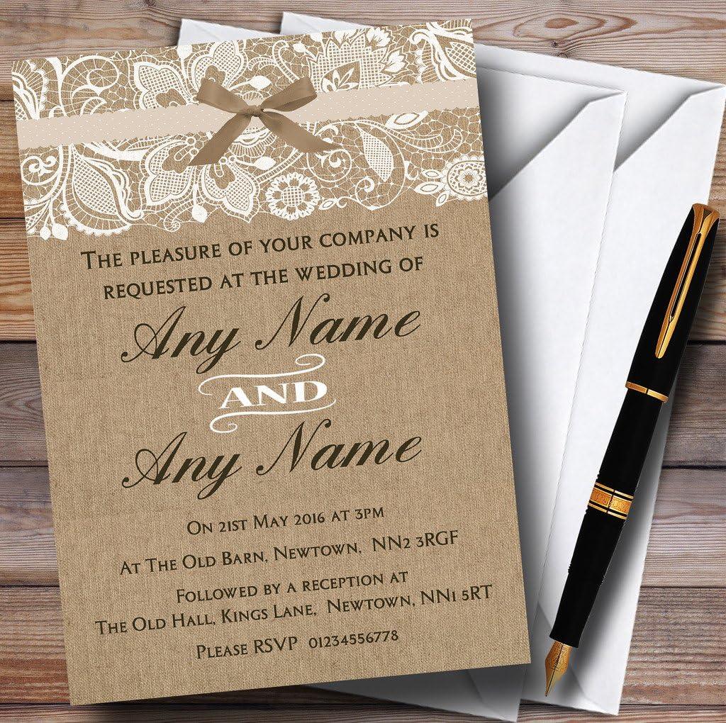 Wedding Invitation Mint Green Frame Vintage Blush Rose Wedding Invitation Linen Ivory Doily Paper Lace Envelope Shabby Chic Custom Any Color