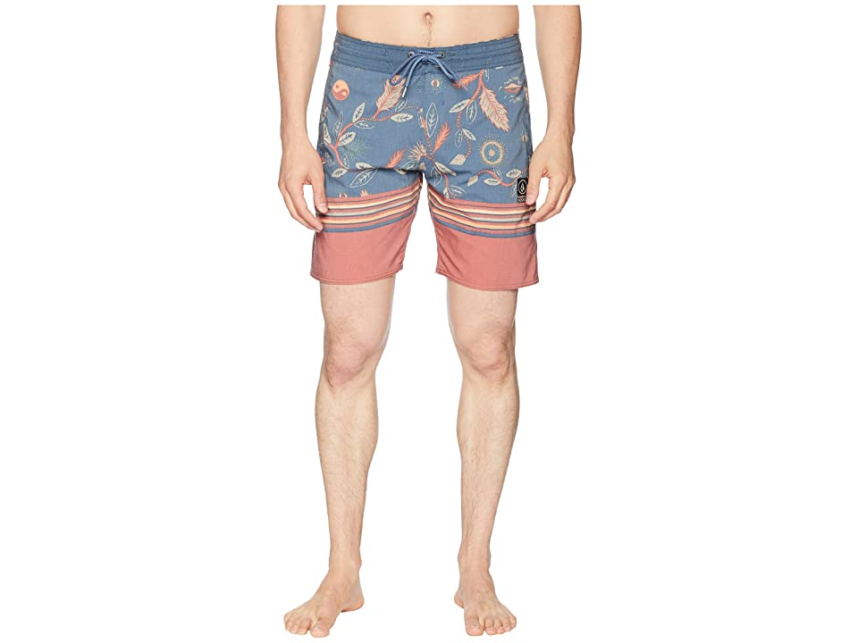 Volcom Lucid Stoney 18 Boardshorts (Deep Blue) Men