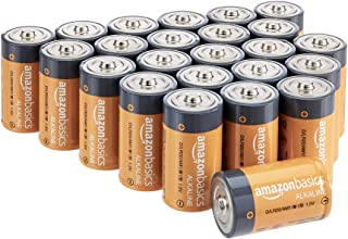 AmazonBasics D Cell 1.5 Volt Everyday Alkaline Batteries - Pack of 24 (Appearance may vary)