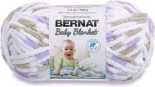 Bernat Baby Blanket Yarn, 3.5 oz, Gauge 6 Super Bulky, Little Lilac Dove Print