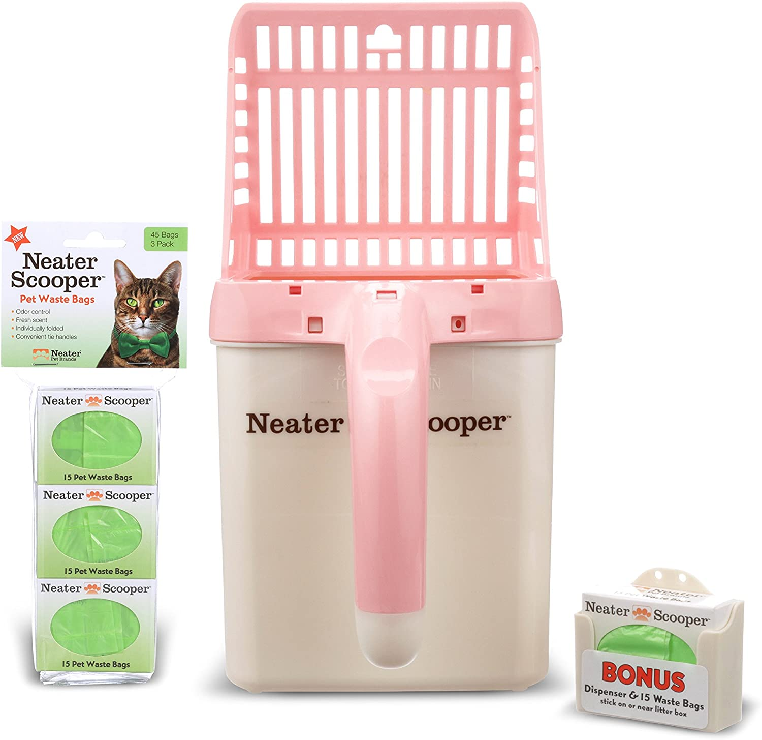 Neater Pet Brands - Scooper and Refill Bundl High quality 60 Large-scale sale Count Bag