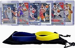 New Orleans Pelicans Basketball Cards: Anthony Davis, Jrue Holiday, Julius Randle, E'Twaun Moore, Elfrid Payton, Ian Clark ASSORTED Basketball Trading Card and Wristbands Bundle