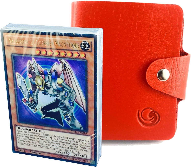 en Version fran/çaise au Choix avec 1 Porte-Cartes Format Universel Lagiwa/® Deck L/égendaire YU-gi-Oh Dragon Blanc Aux Yeux Bleus