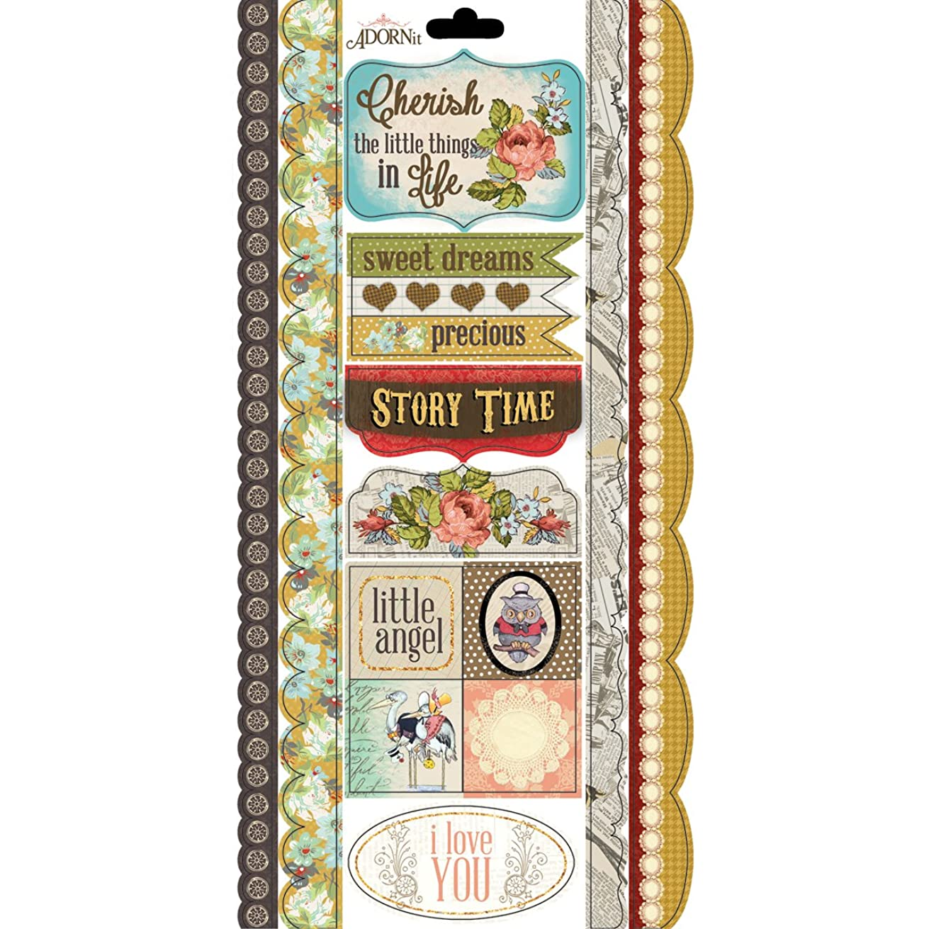 Adorn-It Fairy Tales Storybook Cardstock Stickers