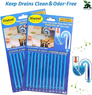 Drain Cleaner Sticks and Deodorizer - Pipe Cleaner Stick Garbage Disposal Deodorizer Fresh & Odor Free and Prevent Clogs Sink Cleaner for Toilet Drain Kitchen Sewer Septic Tank Safe As Seen On TV