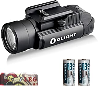 Olight PL-2 Valkyrie 1200 Lumen CREE XHP35 HI Led Pistol flashlight with Mount for Glock and 1913, two CR123A lithium batteries and LegionArms sticker