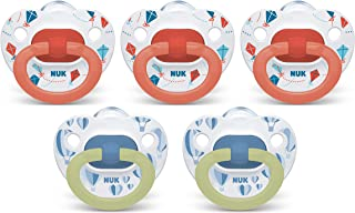 NUK Orthodontic Pacifiers, 6-18 Months, 5-Pack (Exclusive Edition)