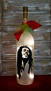 Bob Marley Wine Bottle Decoration Glass Gift